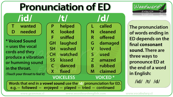 of ED in English