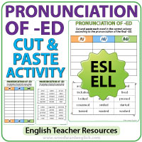 Pronunciation Of Ed In English