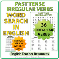 Past Tense Irregular Verbs List - English Grammar - Verbos