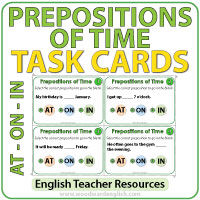 Prepositions of Time At On In English Grammar Notes - Preposiciones