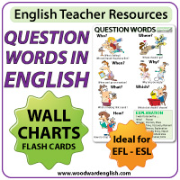 Question Words in English - Wall Chart and Flash Cards for English Teachers